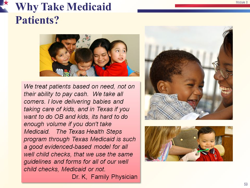 Why Take Medicaid Patients