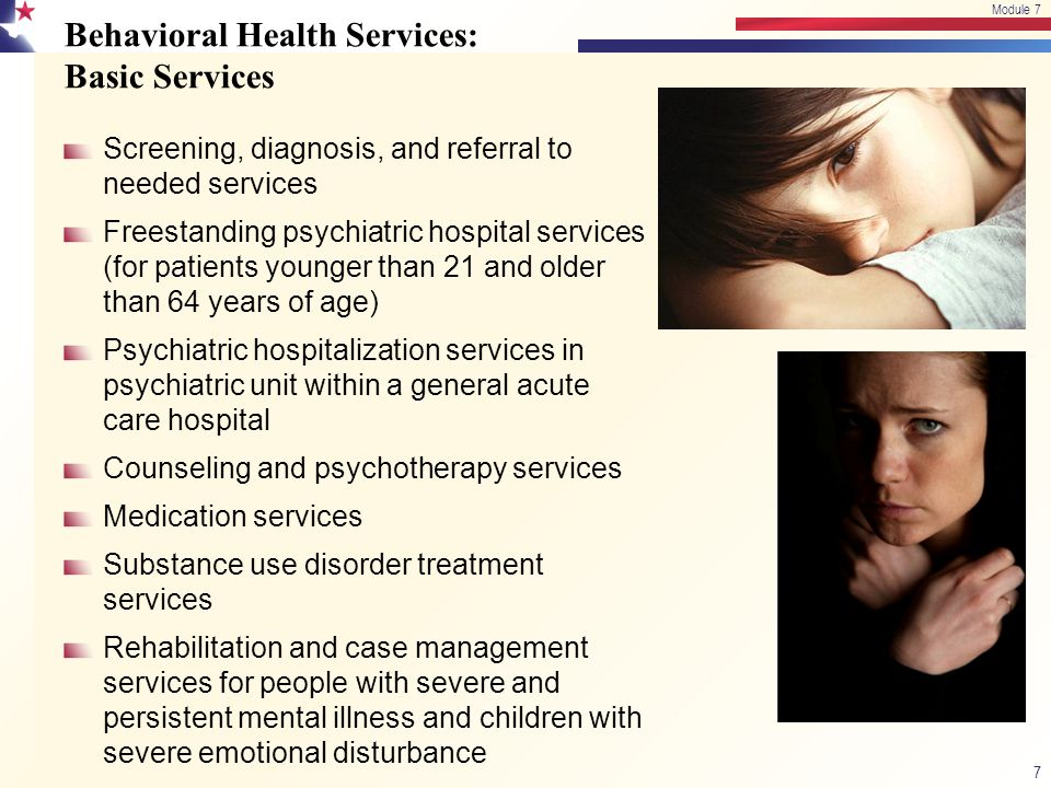 Behavioral Health Services: Basic Services