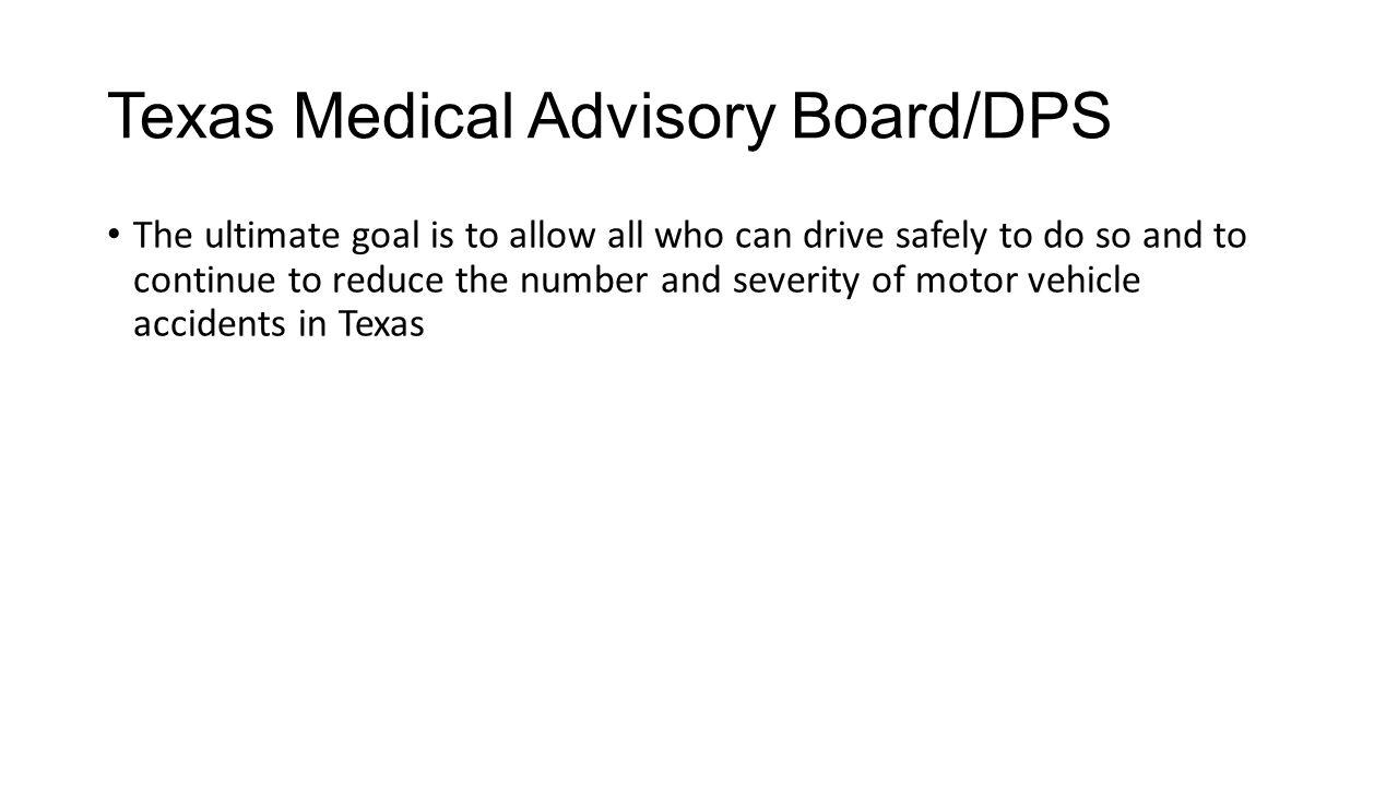 Texas Medical Advisory Board/DPS