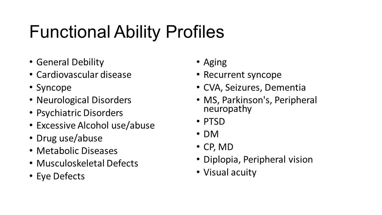 Functional Ability Profiles