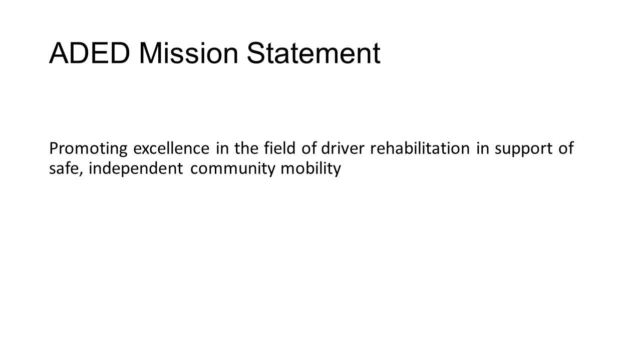ADED Mission Statement