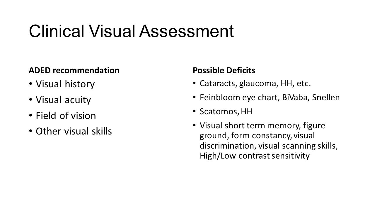 Clinical Visual Assessment