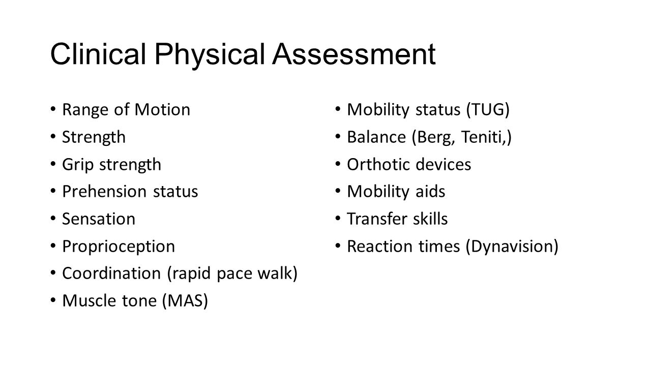 Clinical Physical Assessment