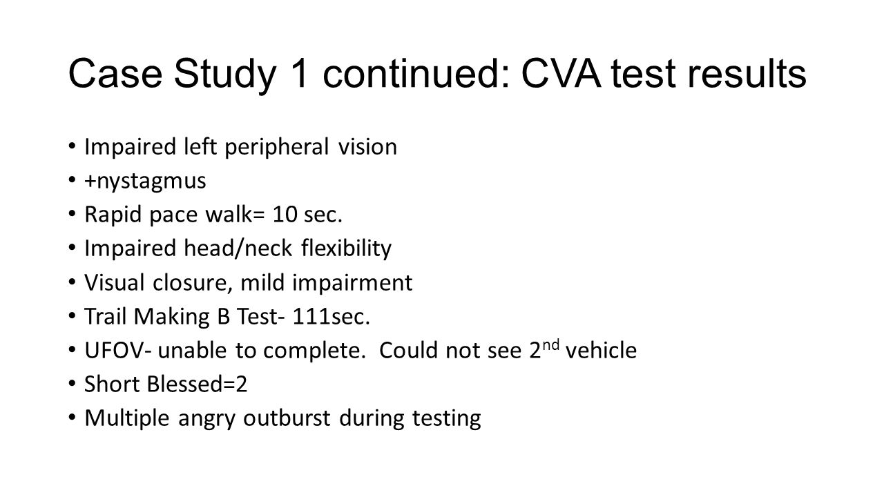 Case Study 1 continued: CVA test results