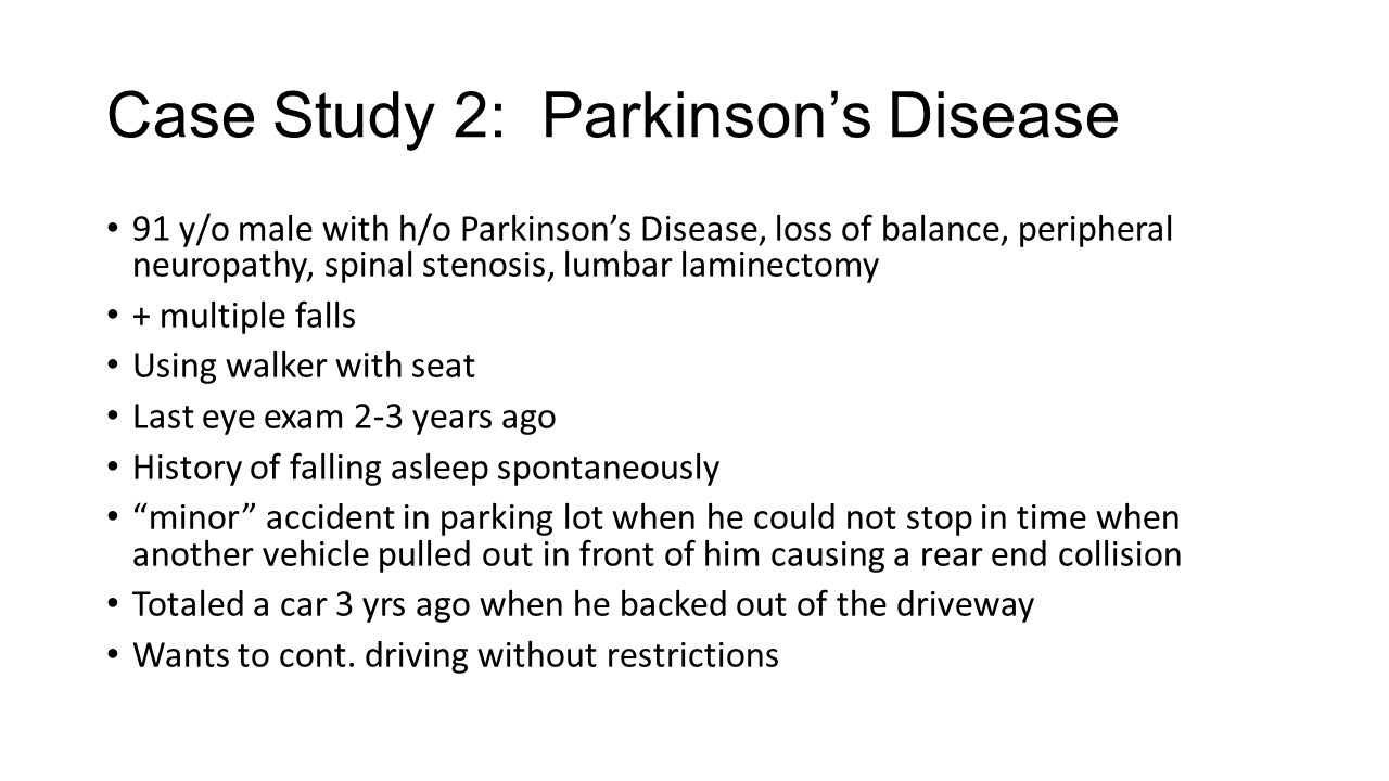 Case Study 2: Parkinson's Disease
