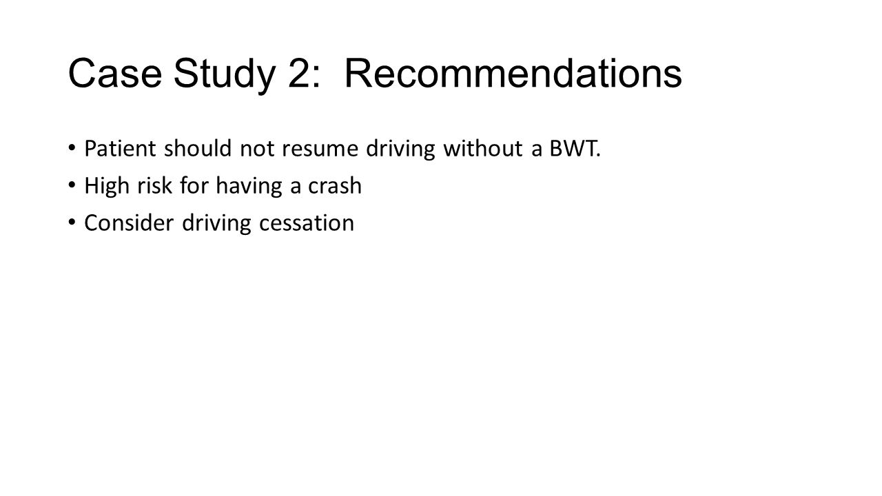 Case Study 2: Recommendations