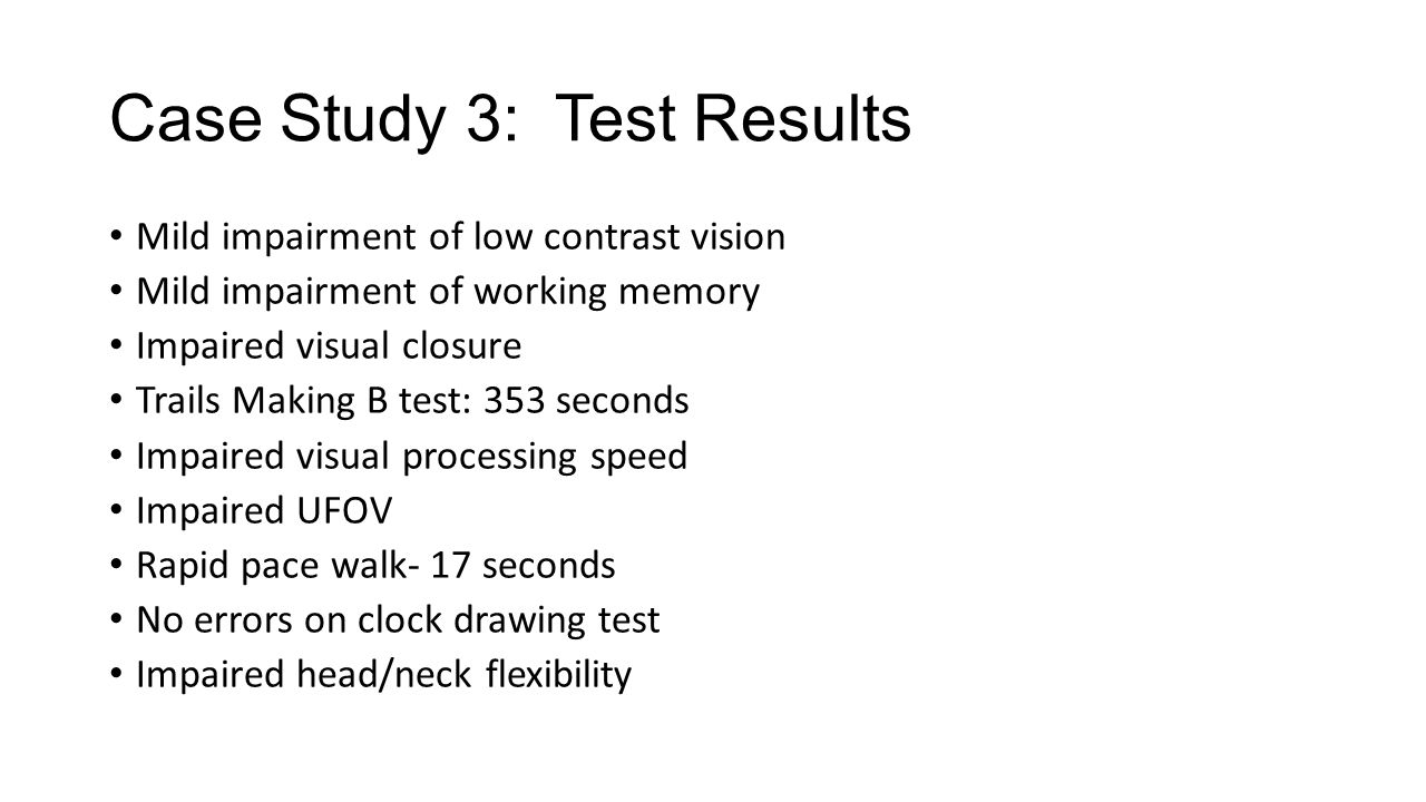 Case Study 3: Test Results