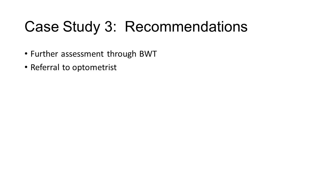 Case Study 3: Recommendations