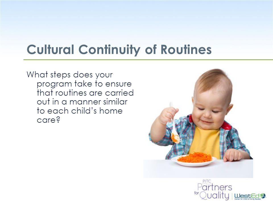 Cultural Continuity of Routines