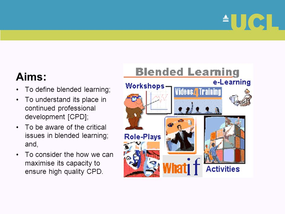 Aims: To define blended learning;