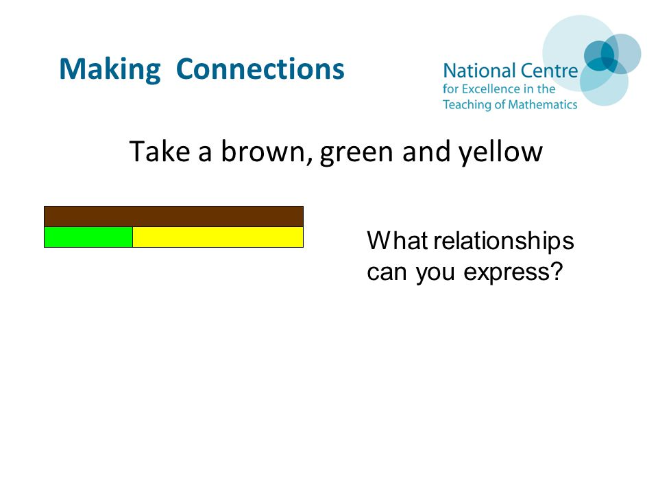 Take a brown, green and yellow