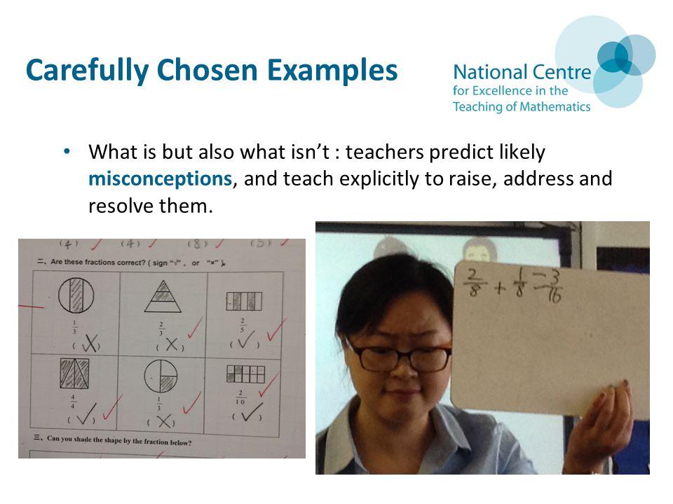 Carefully Chosen Examples