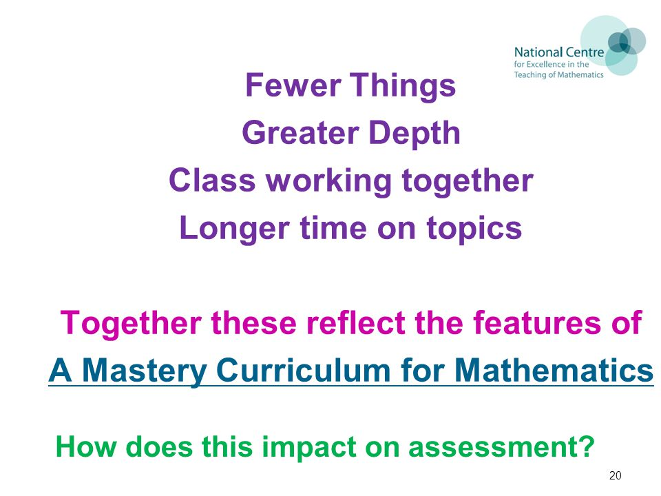 How does this impact on assessment