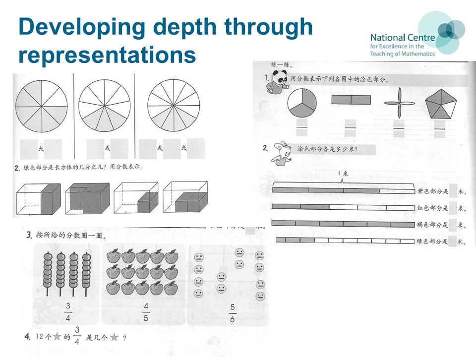 Developing depth through representations