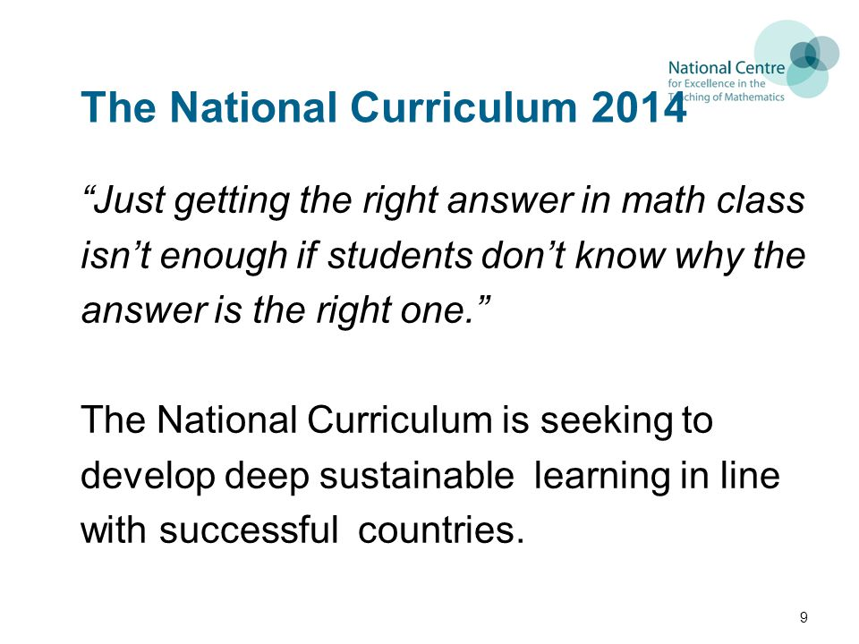 The National Curriculum 2014