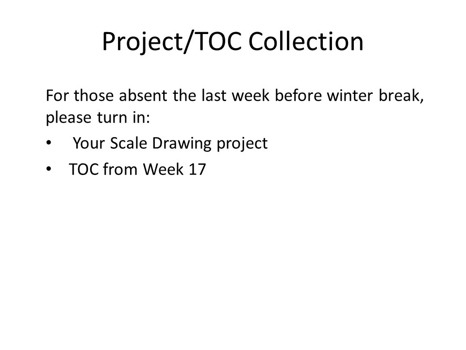 Project/TOC Collection