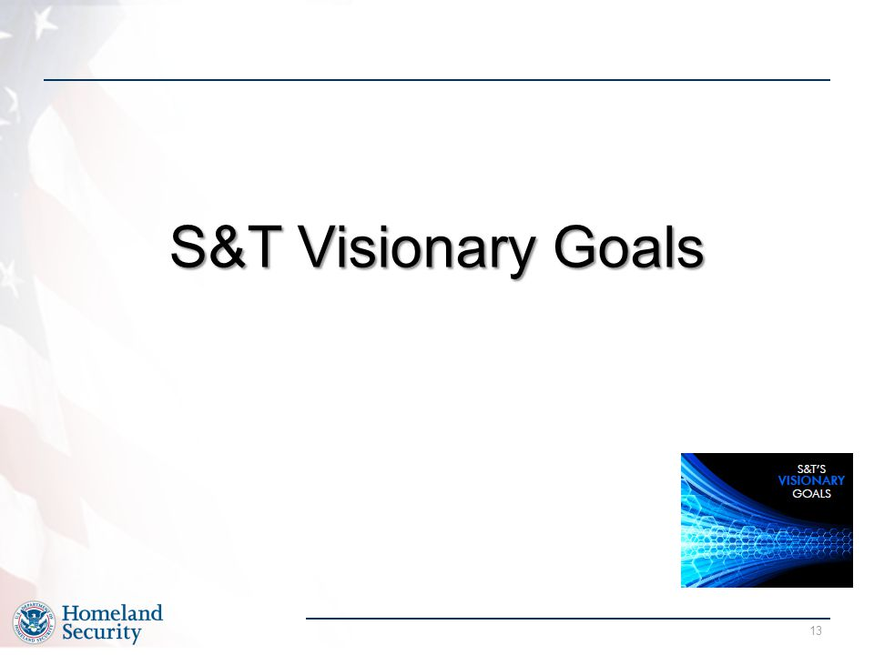 S&T Visionary Goals
