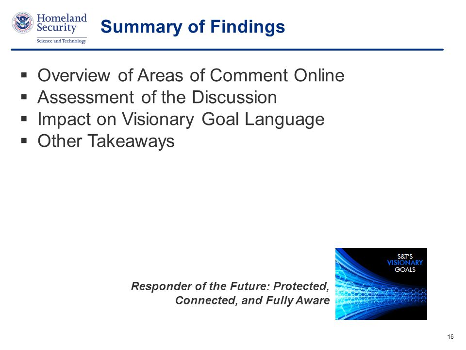 Overview of Areas of Comment Online Assessment of the Discussion