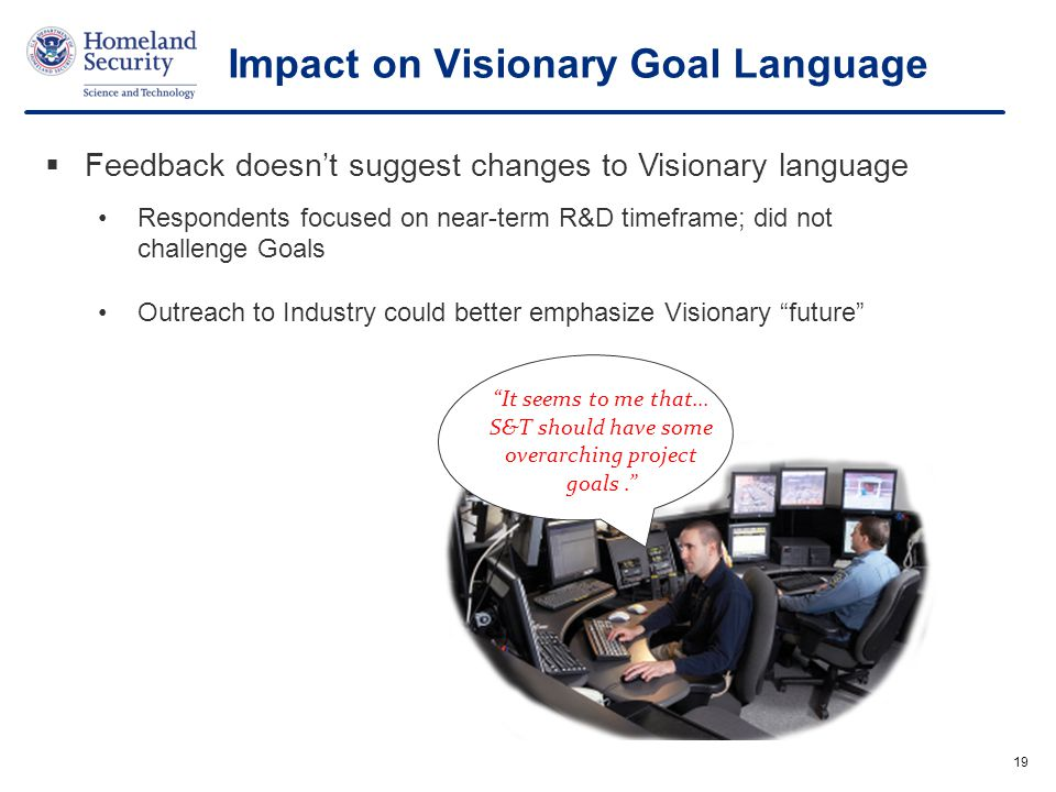 Impact on Visionary Goal Language