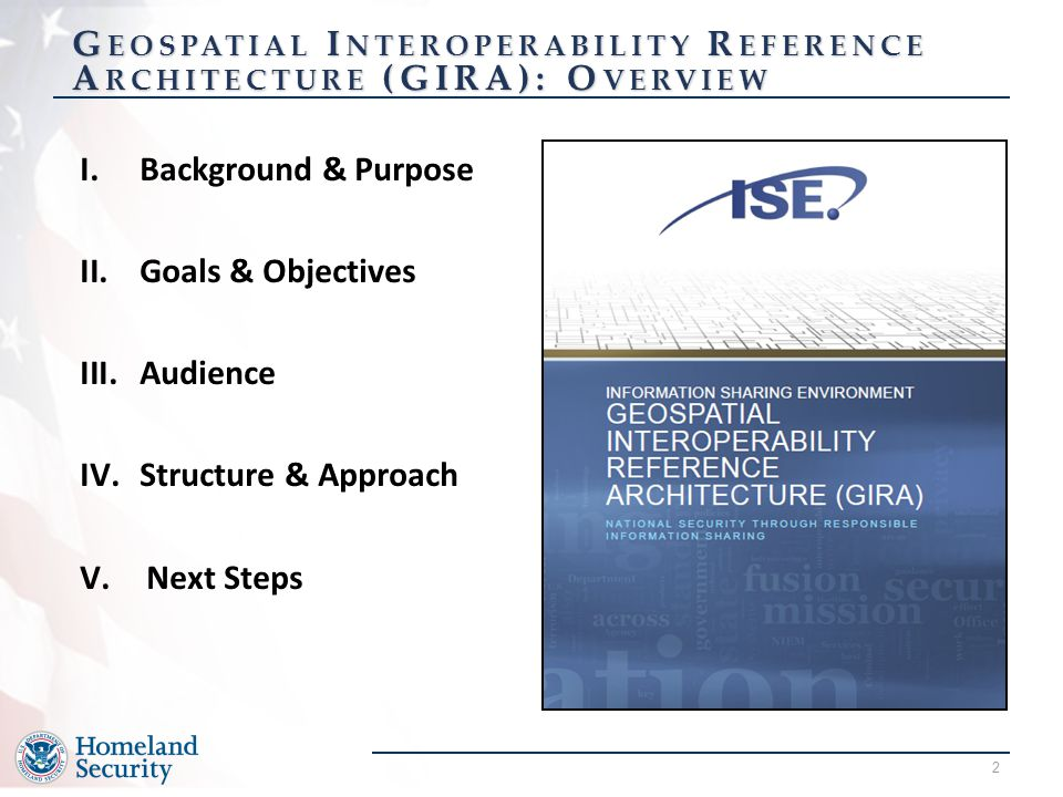 Geospatial Interoperability Reference Architecture (GIRA): Overview