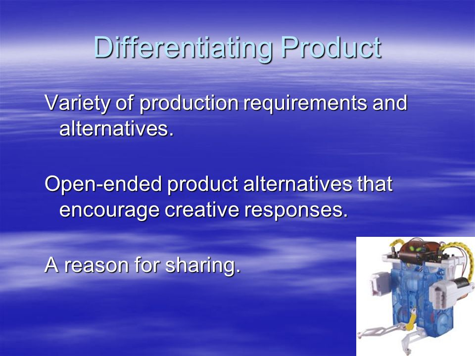 Differentiating Product