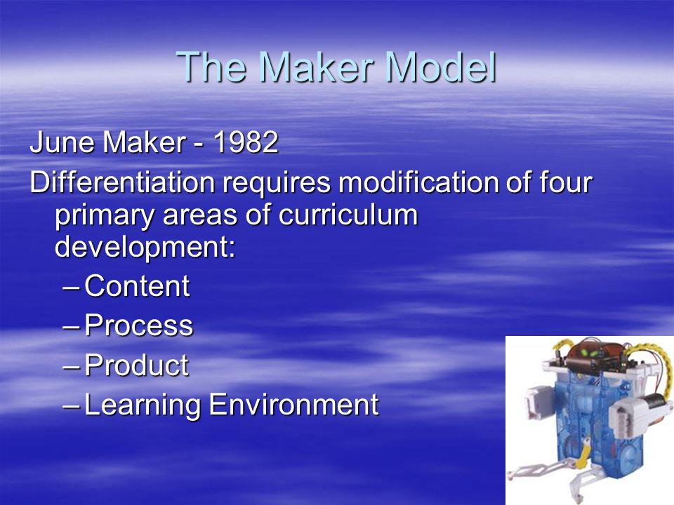 The Maker Model June Maker - 1982