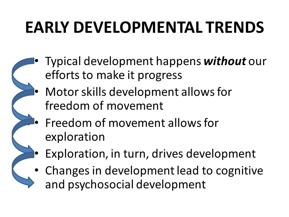 EARLY DEVELOPMENTAL TRENDS