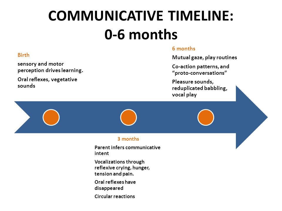 COMMUNICATIVE TIMELINE: 0-6 months