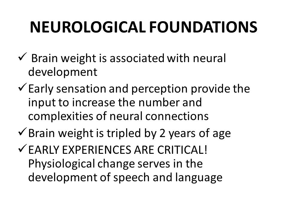NEUROLOGICAL FOUNDATIONS