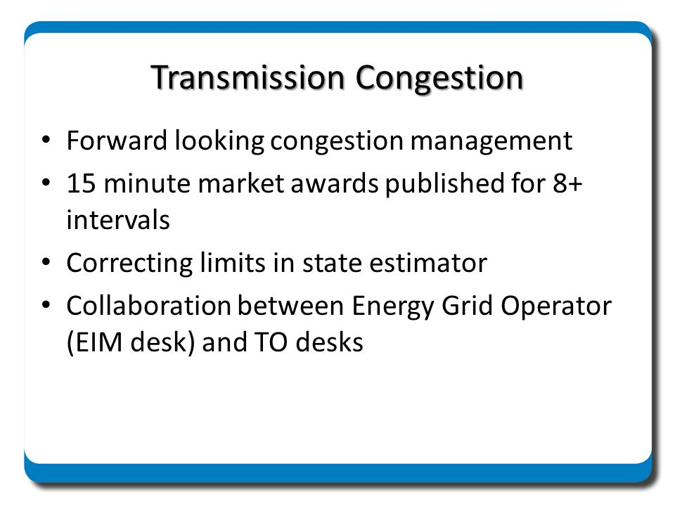 Transmission Congestion