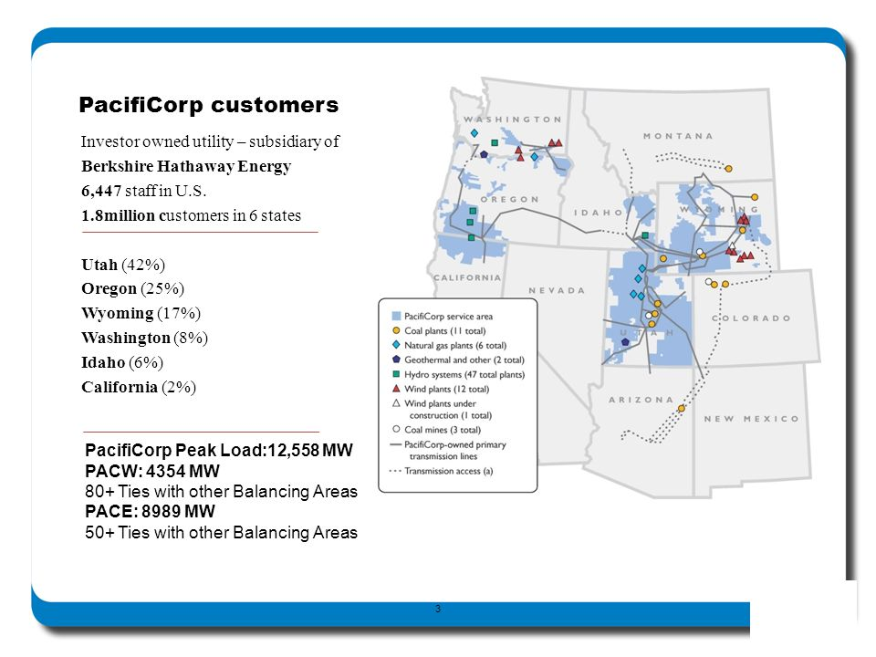 PacifiCorp customers (go over statistics on slide)