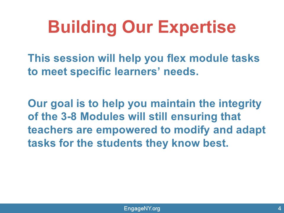 Building Our Expertise