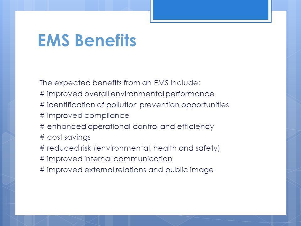 EMS Benefits
