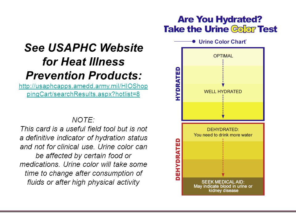 See USAPHC Website for Heat Illness Prevention Products:
