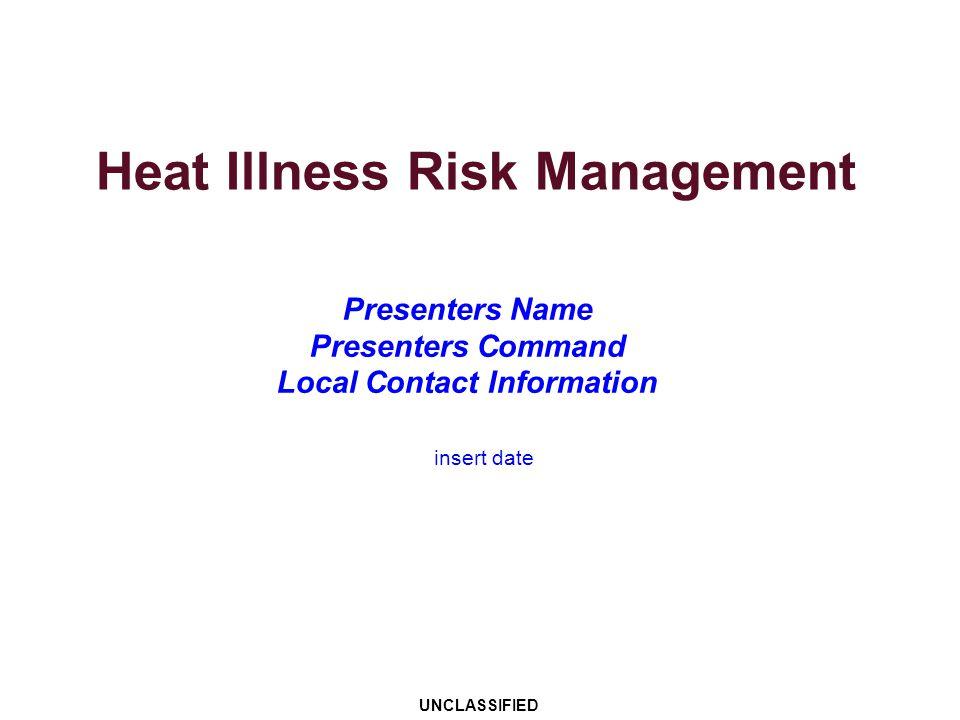 Heat Illness Risk Management