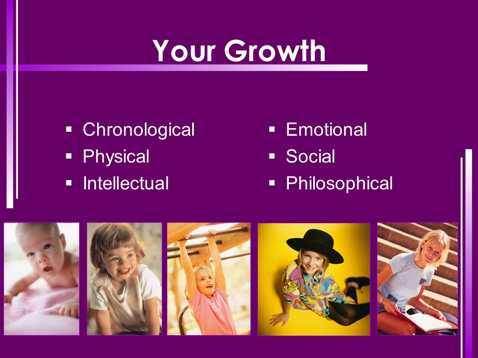 Your Growth Chronological Physical Intellectual Emotional Social