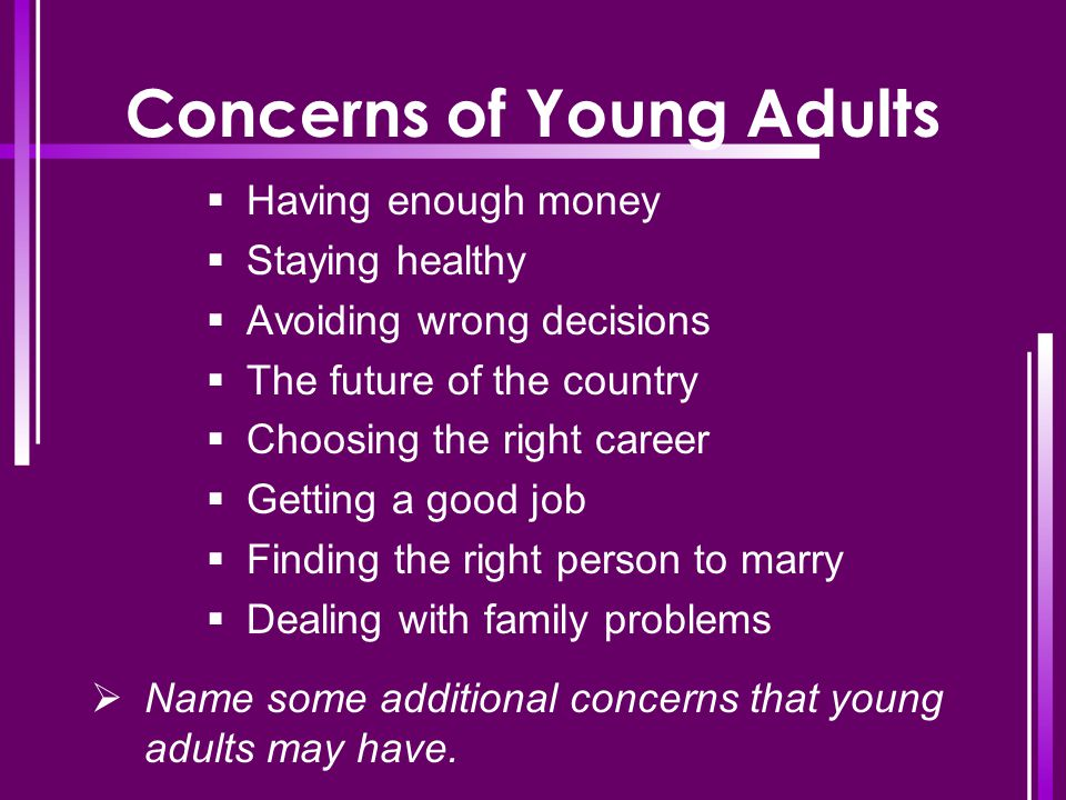Concerns of Young Adults