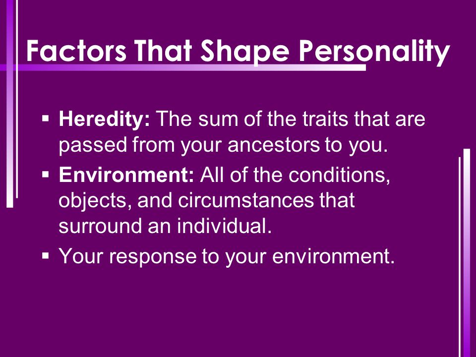 Factors That Shape Personality