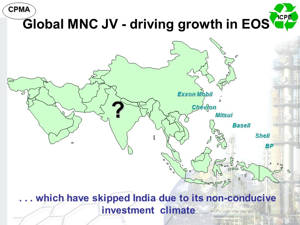 Global MNC JV - driving growth in EOS