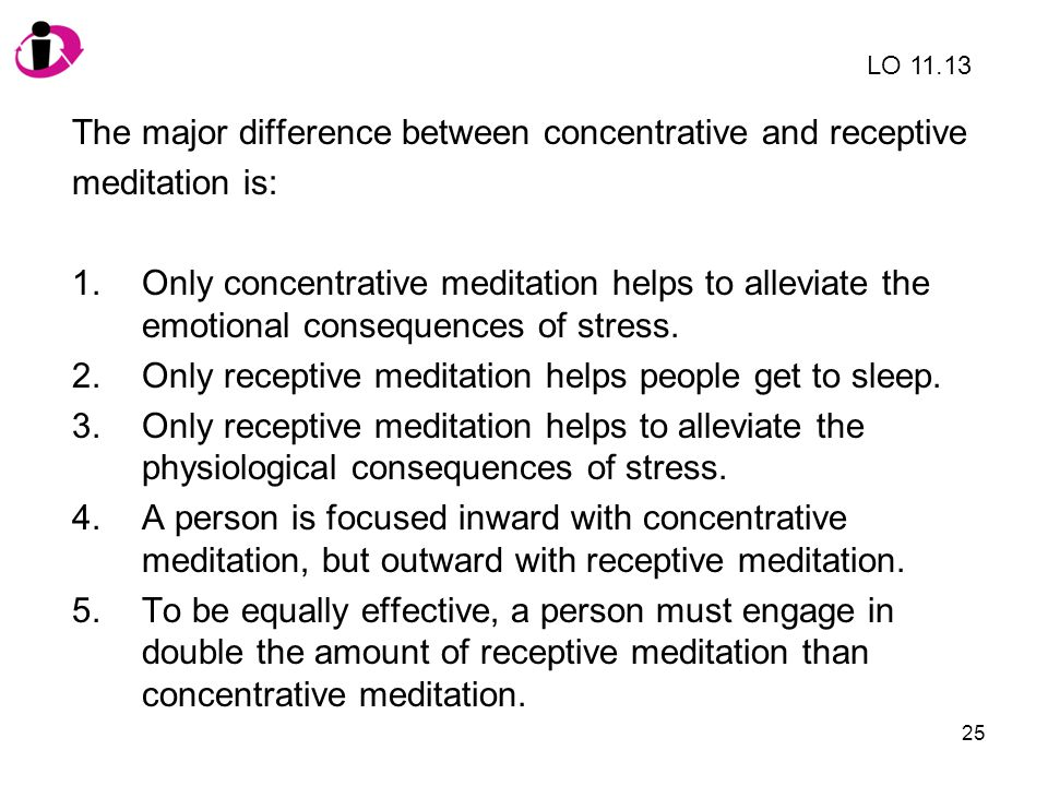 The major difference between concentrative and receptive
