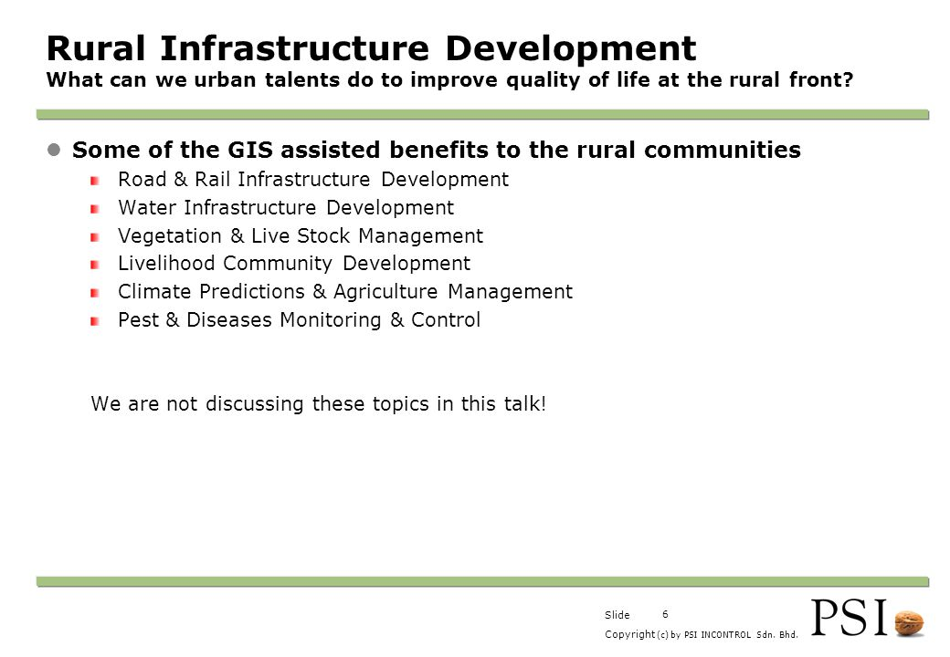Rural Infrastructure Development What can we urban talents do to improve quality of life at the rural front