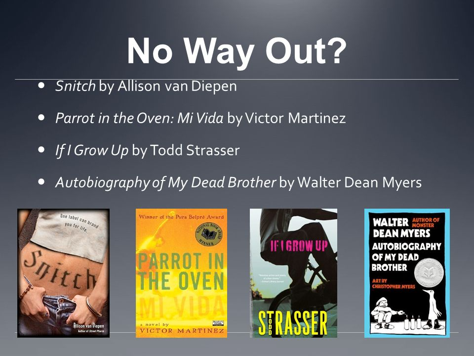 No Way Out Snitch by Allison van Diepen