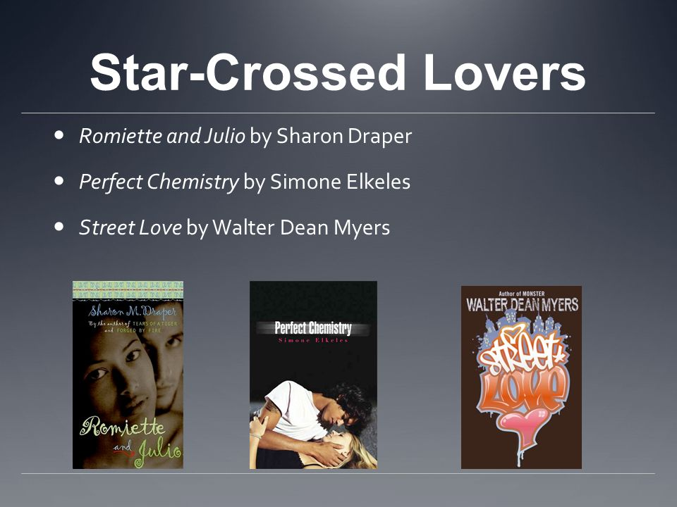Star-Crossed Lovers Romiette and Julio by Sharon Draper