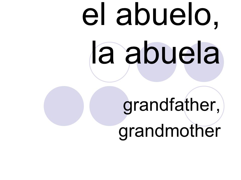 grandfather, grandmother