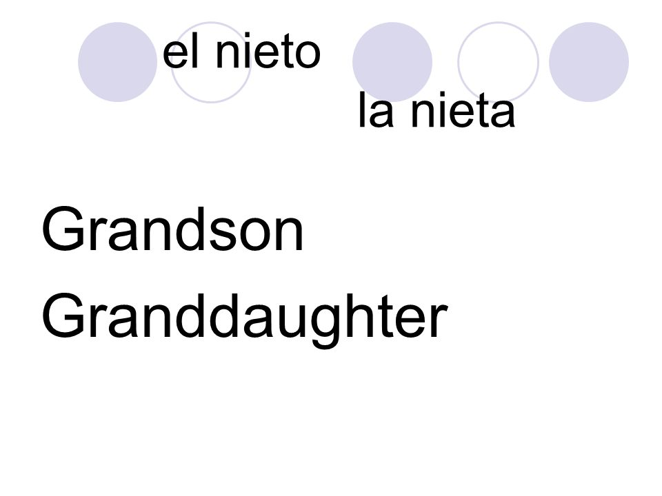 el nieto la nieta Grandson Granddaughter