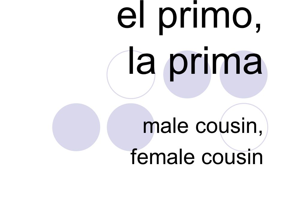 male cousin, female cousin