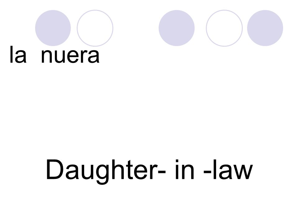 la nuera Daughter- in -law