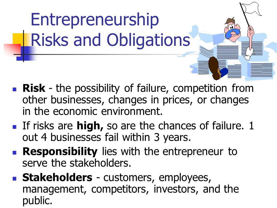 Entrepreneurship Risks and Obligations