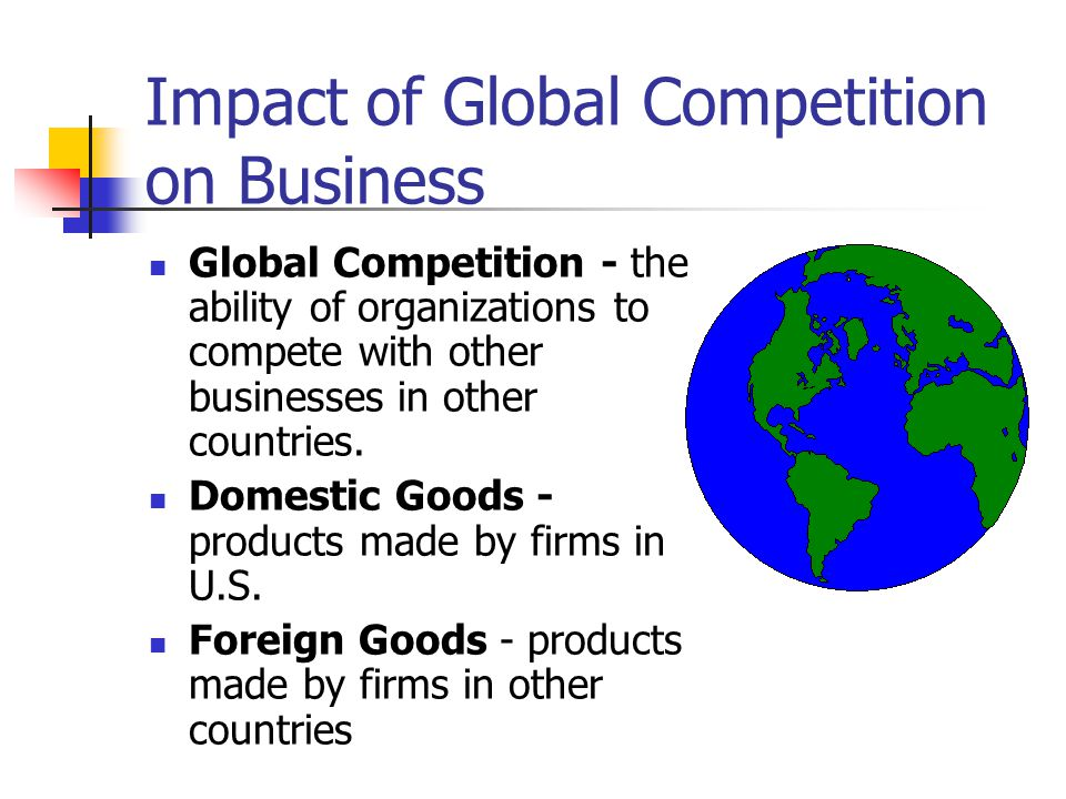 Impact of Global Competition on Business