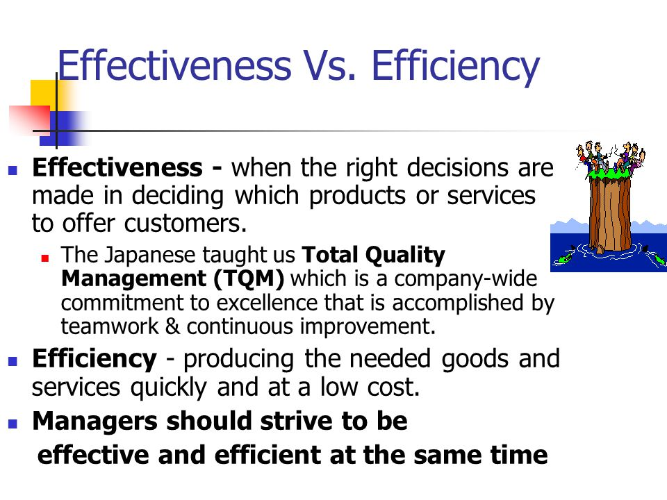 Effectiveness Vs. Efficiency